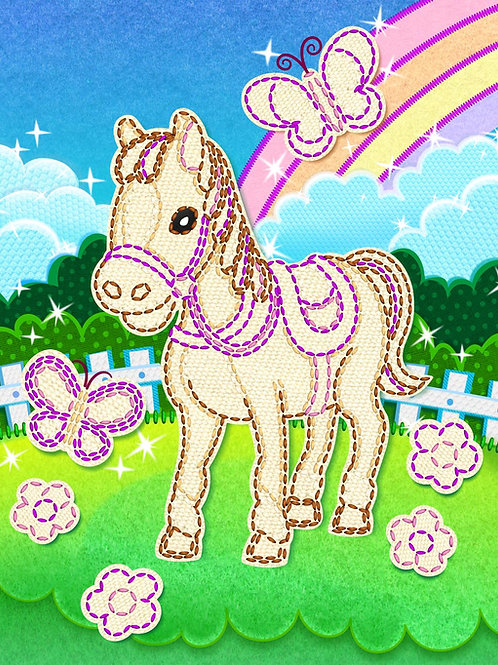 Horse Yarn Art