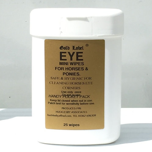 Gold Label Eye & Nose Wipes 25's