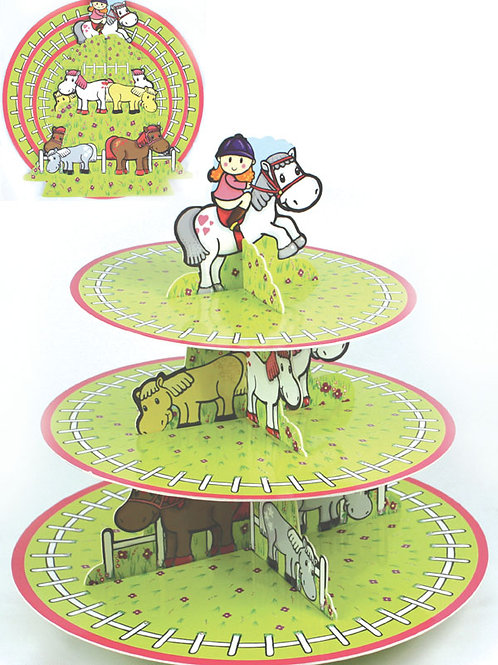 """""""Pony Pals"""" Horse 3-tier Cake Stand"""