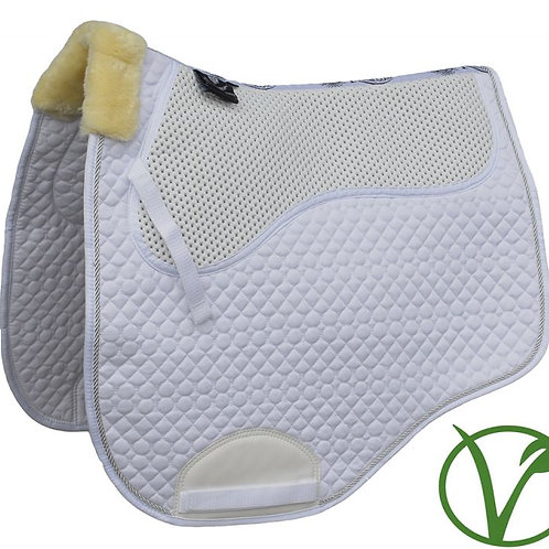 Rhinegold Non-Slip Gel Straighter Cut Saddle Cloth with Faux Fur