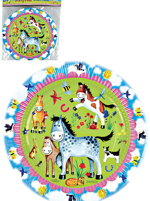 """Pony Pals"" Pack Of 8 Party Plates"