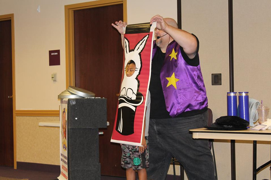 Doodad the Magician spent some time at the Aliante Library thrilling the audience with his comedy and magic tricks!
