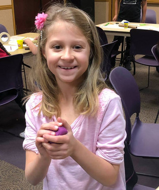 Maddy had a great time using play dough to make a scrumptious dessert in the Engineering For Kids program Food Factory at the Aliante Library.  This program was made possible by federal LSTA funds.