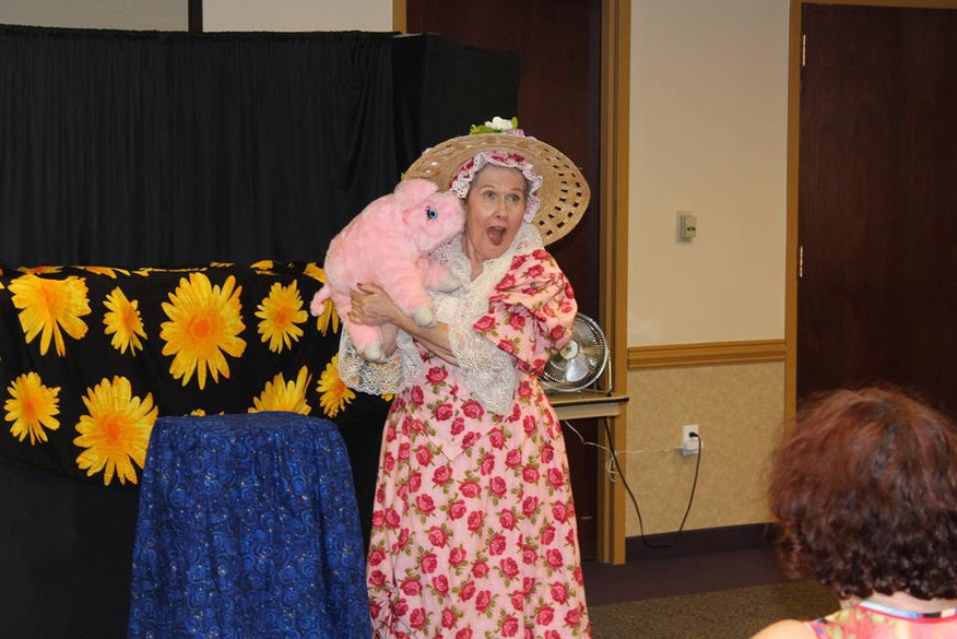 The Summer Reading program isn't complete without a variety of performers, like Mother Goose!