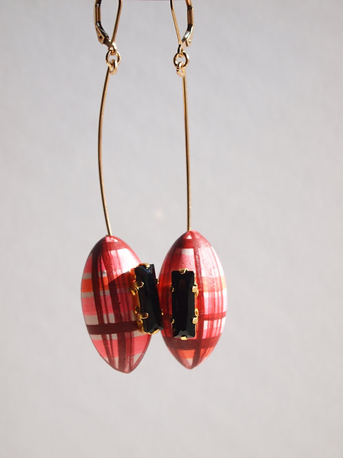 Sus_Earrings(ESU#AFtartan PK)