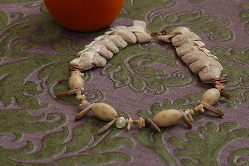 multiply Ribbon Necklace(MRN#sandpink)