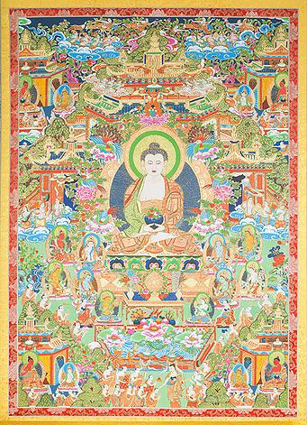 極樂世界 (Land of Amitābha)  Sukhāvatī