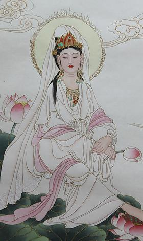 坐式觀世音菩薩-手執紅蓮 Avalokiteśvara