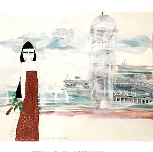 WDA079_香港_Hong_Kong_-_Watercolour_and_Pe