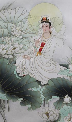 坐式觀世音菩薩-手執佛珠 Avalokiteśvara