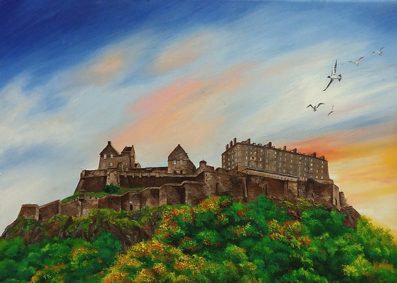 Edinburgh Castle by TK Chan