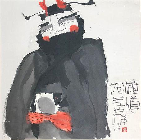 WDB072 鍾馗抱善 Zhong Kui - Ink and Colour o