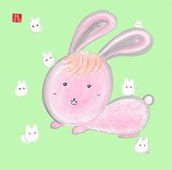 Rabbit Glutinous Rice Cake 兔仔糯米糍