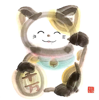 lucky cat by tk chan