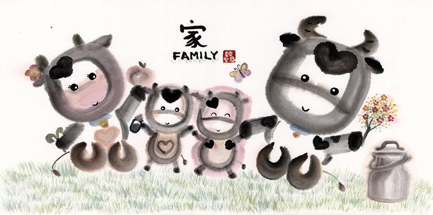 Cow's Family 乳牛家庭