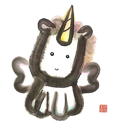 Lucky unicorn by tk chan