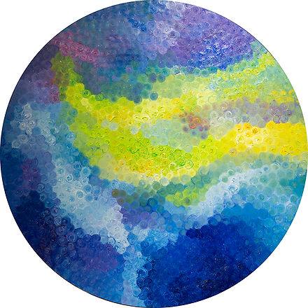 Aurora Flower  Oil on Canvas  80x 80cm 2016  byMs TK Chan陳紫君