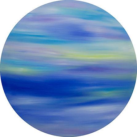 Sky Blue  Oil on Canvas  70x 70cm 2017  byMs TK Chan陳紫君