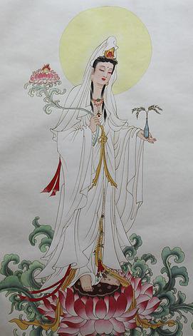 觀世音菩薩-手執紅蓮 Avalokiteśvara