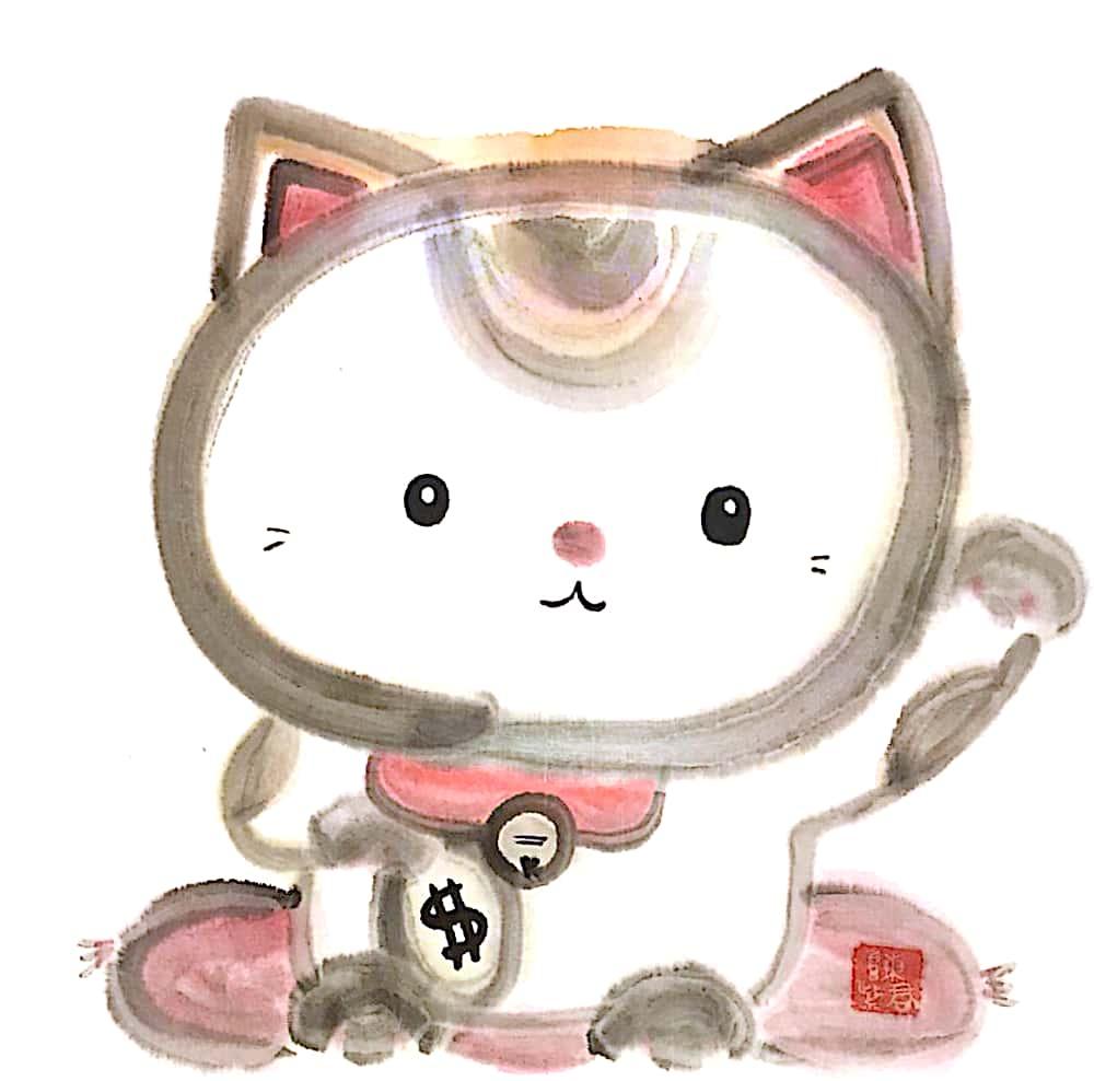 Lucky Cat 招財貓ucky Cat 2 33x33cm 2019
