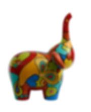 """Love is in the air"" - Ltd Ed 24  (Jungle pop elephant) Resin, Fiberglass & Marble powder  Size M 34x40x55cm(WxLxH) 5kg  2018  byMs Adeline Buenaventura"