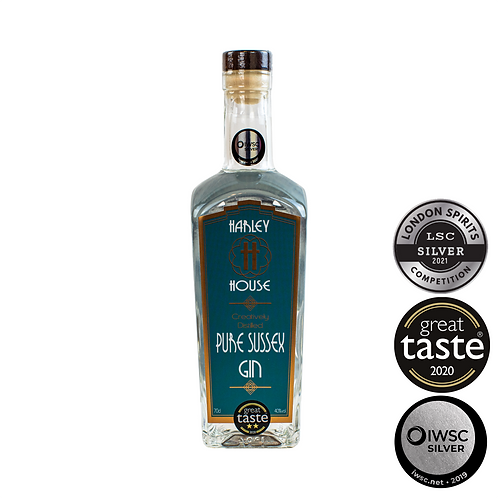 Pure Sussex Gin - 40% ABV (70cl) - TRIPLE AWARD WINNING