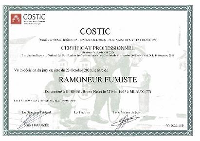 Certificat professionnel ramoneur
