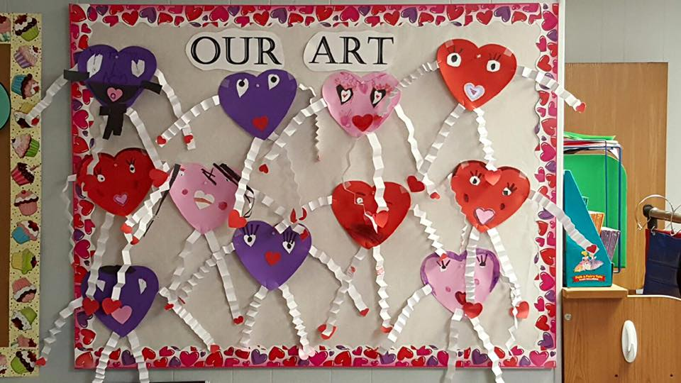 Kindergarten Valentines Artwork