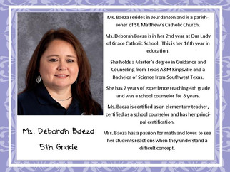 Meet Mrs. Baeza
