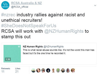 NZ recruiters rally against racist and unethical behaviour