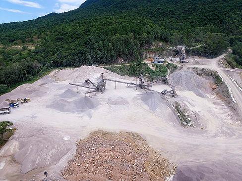 Mineração com drone