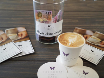 #fivers4survivors - give up a coffee to make a difference
