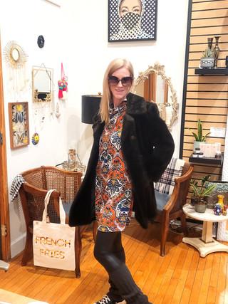 Sustainable Faux Fur Coat & Dress
