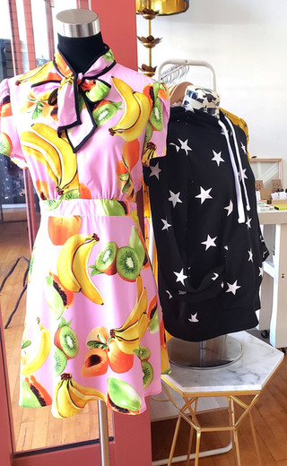 Pretty is Contagious Fruit Dress and Star Hoodie