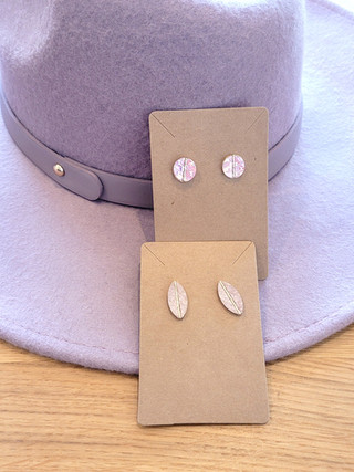 Wool Hat and Leather Earrings