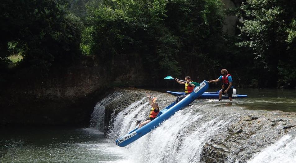 River Rafting ved vandfald