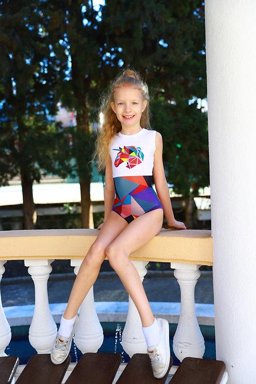 """Универсальный купальник для девочки """"Единорожка"""""""
