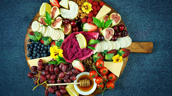 Cheese and fruit charcuterie dessert gra