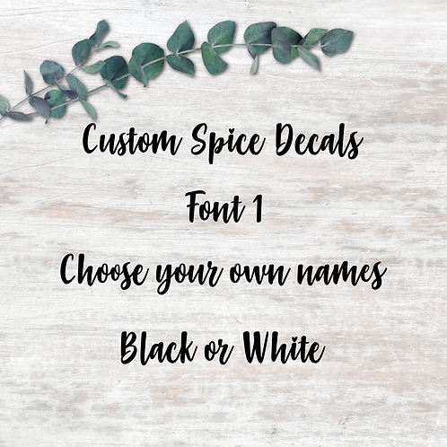 Spice Decals - Font 1