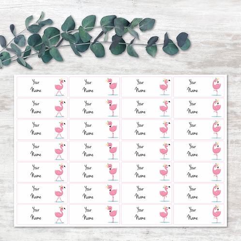 Flamingo Name Labels
