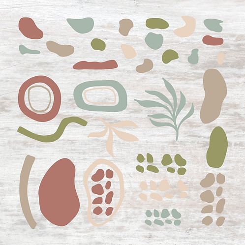 Earthy Abstract Decals