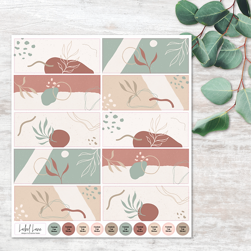 Earthy Abstract Wraps