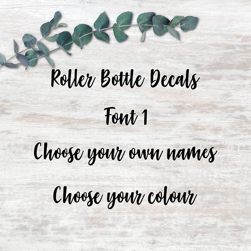 Roller Decals - Font 1