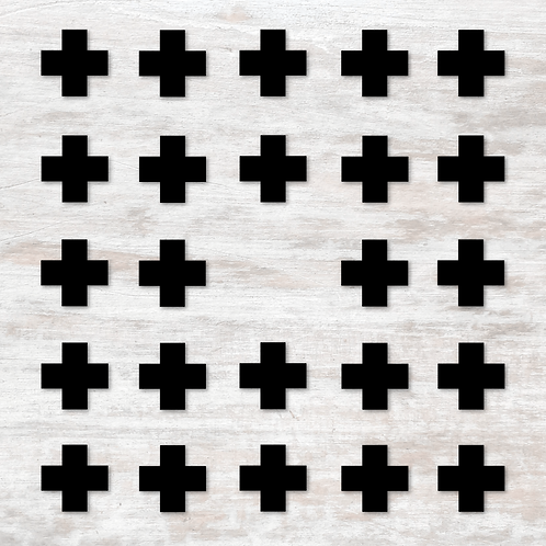 Black Cross Wall Decals