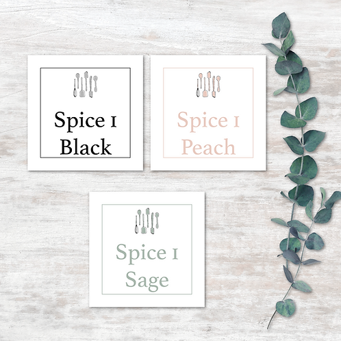 Spice Labels - Design 1