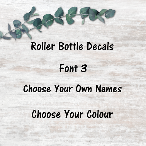 Roller Decals - Font 3