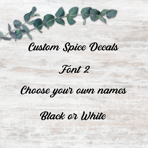 Spice Decals - Font 2