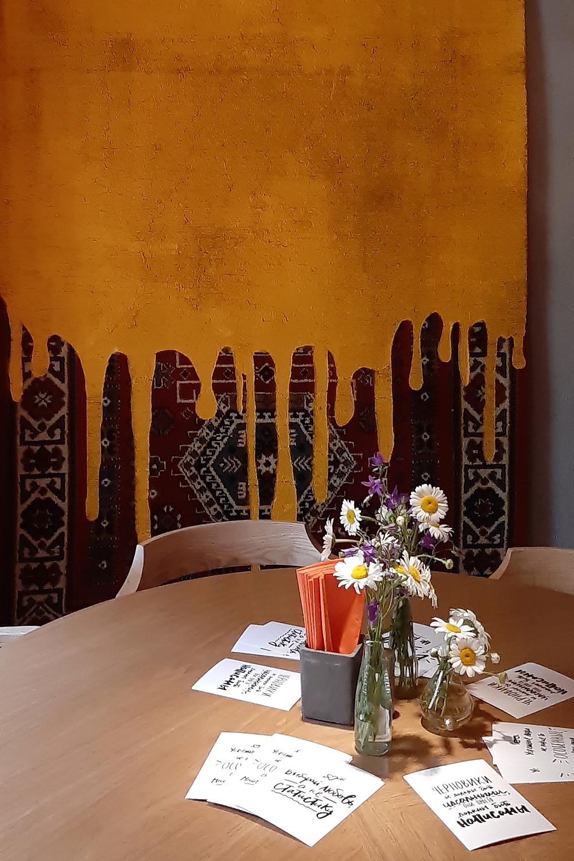 интерьер кафе Гужва, 2 зал, стол. Блог Ирины Ежовой