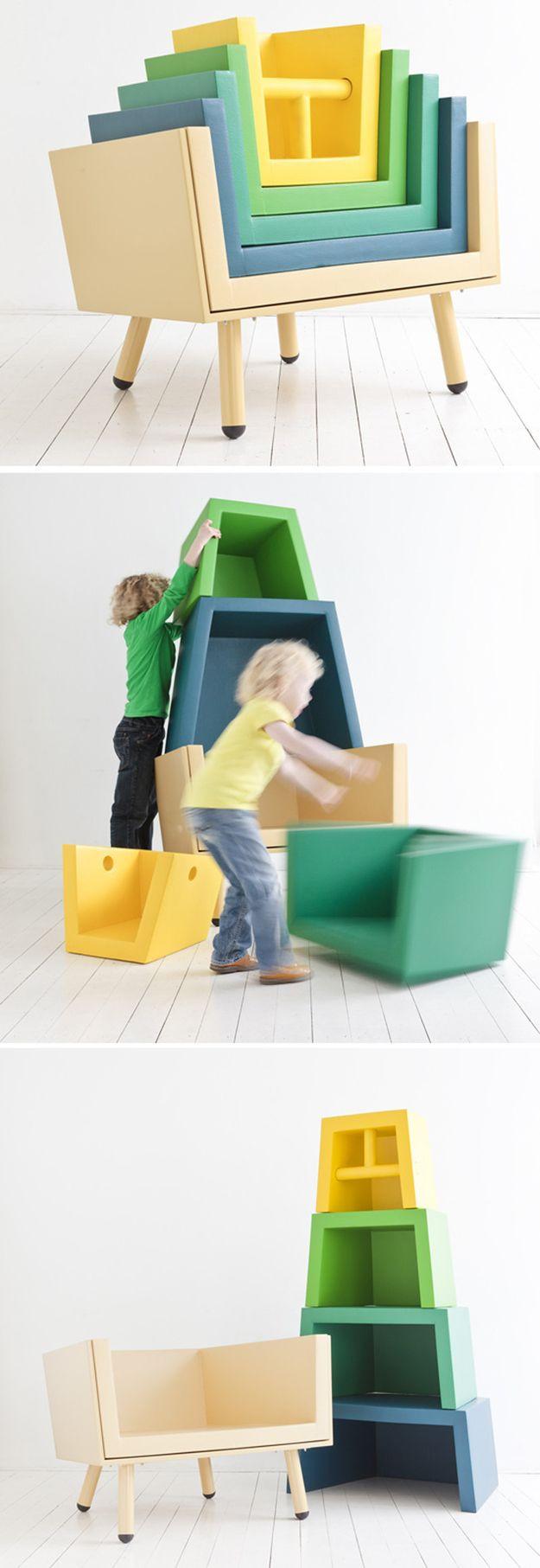 Стеллаж-пирамидка идея из детства
