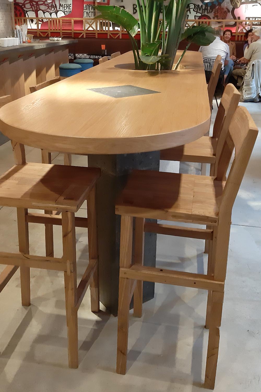 интерьер кафе Гужва, 1 зал, детали стола. Блог Ирины Ежовой